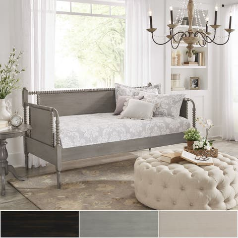Dane Traditional Beaded Wood Daybed and Trundle by iNSPIRE Q Classic