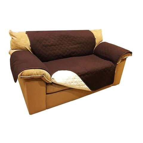 ALEKO Brown Pet Friendly Loveseat Furniture Protector