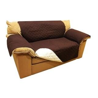 "ALEKO Pet Protection Furniture Love Seat Slipcover 88"" x 70"" Brown"