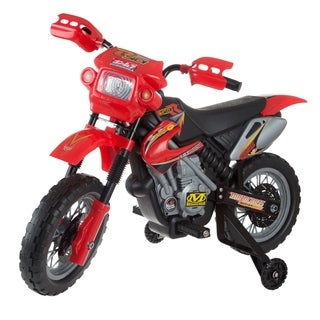 Kids Beginner Dirt Bike-Ride On Battery Powered Mini Motor Bike by Lil Rider (Red)