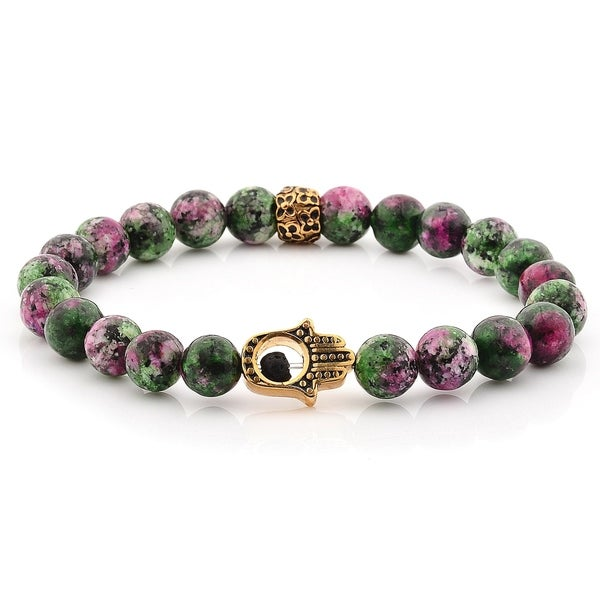 Gemstone Bracelet unique-gift-for-wife Handmade Jewelry fashion holidays Chrysocolla Gemstone Stretch Bracelet Gemstone Jewelry 8mm