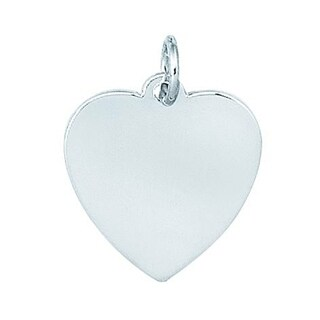 Sterling Silver Stamped Heart Charm
