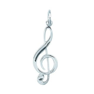 Sterling Silver Large G Clef Charm