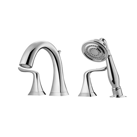 Claudius Roman Tub Faucet with Hand-Held Shower - Polished chrome
