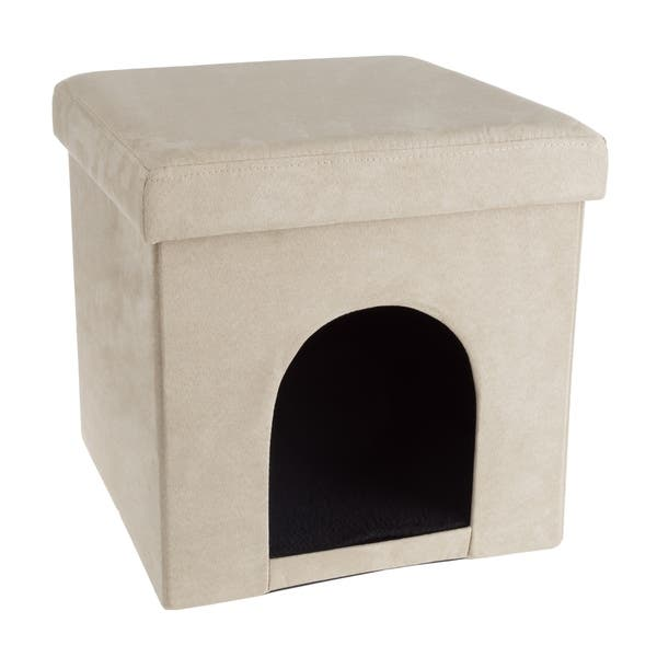 Incredible Shop Pet House Ottoman Collapsible Multipurpose Cat Or Inzonedesignstudio Interior Chair Design Inzonedesignstudiocom