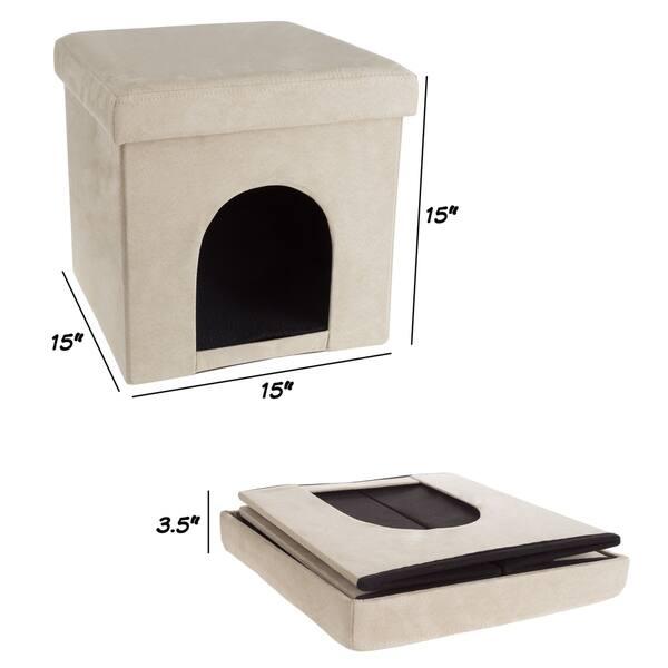 Phenomenal Shop Pet House Ottoman Collapsible Multipurpose Cat Or Inzonedesignstudio Interior Chair Design Inzonedesignstudiocom