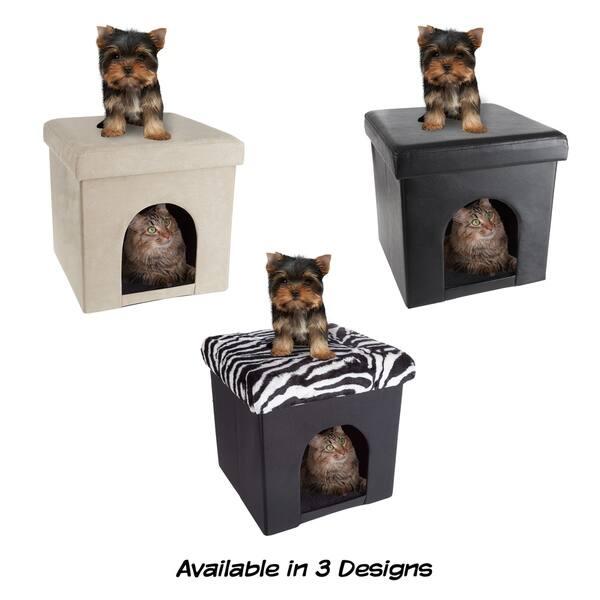 Astounding Shop Pet House Ottoman Collapsible Multipurpose Cat Or Inzonedesignstudio Interior Chair Design Inzonedesignstudiocom