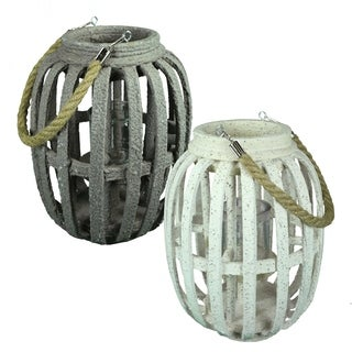 Essential Décor & Beyond 2pc MDF Lantern EN19072