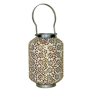 Essential Décor & Beyond Amber Mosaic Lantern EN14880