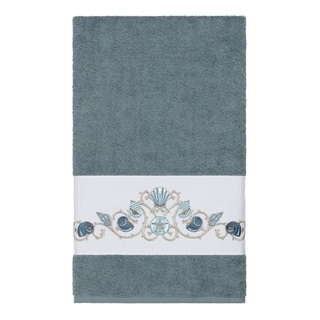 Link to Authentic Hotel and Spa Turkish Cotton Shells Embroidered Teal Blue Bath Towel Similar Items in Towels