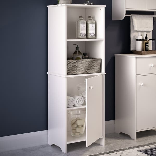 Riverridge Medford Collection Tall Floor Cabinet White