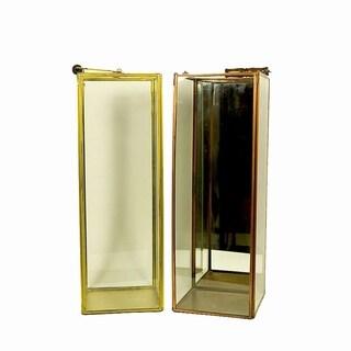 Essential Décor & Beyond 2pc Tall Square Glass Lantern EN19063