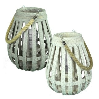 Essential Décor & Beyond 2pc MDF Lantern EN19069