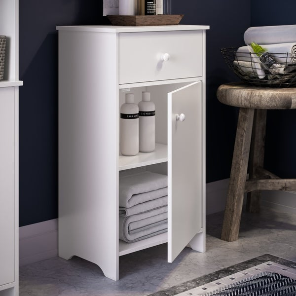 RiverRidge Medford Collection Floor Cabinet with Drawer - White