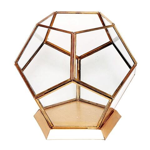 Essential Décor & Beyond Antique Brass and Glass Lantern EN19048