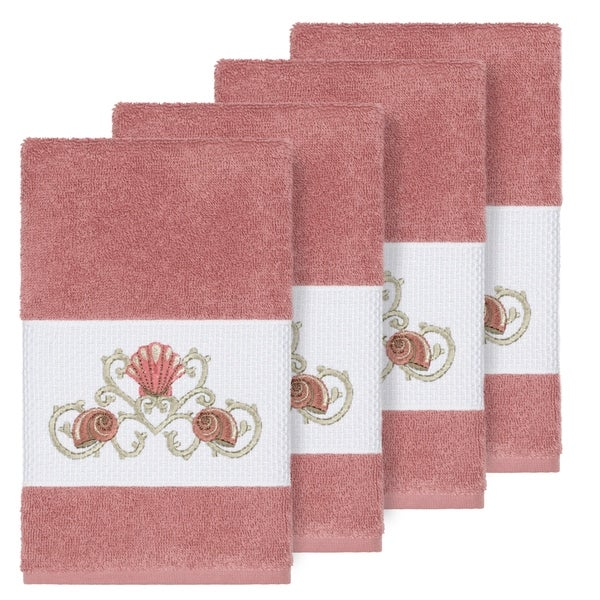 Rose Embroidered Towels: Shop Authentic Hotel And Spa Turkish Cotton Shells