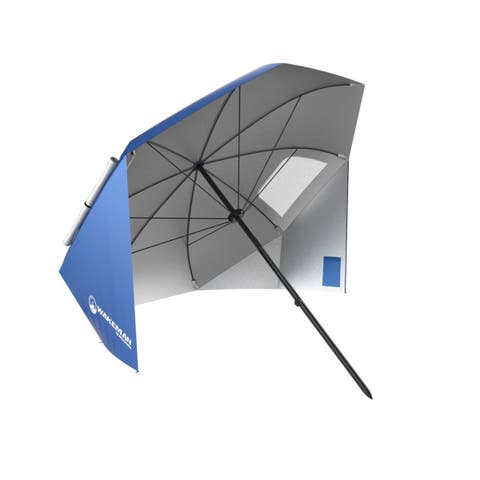 Umbrella Sun Shelter- Portable Canopy for Shade By Wakeman Outdoors (Blue)
