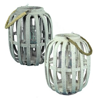 Essential Décor & Beyond 2pc MDF Lantern EN19074