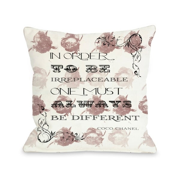 Irreplaceable 18x18 Pillow by OBC