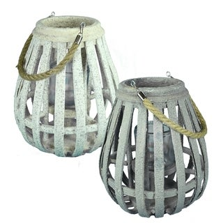 Essential Décor & Beyond 2pc MDF Lantern EN19075