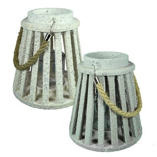 Essential Décor & Beyond 2pc MDF Lantern EN19073