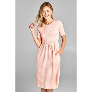 Spicy Mix Brinley Polka Dot Pocket Midi Dress (More options available)