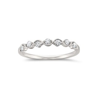 Montebello 14KT White Gold 1/4ct TDW Round-cut Diamond Wedding Band (More options available)