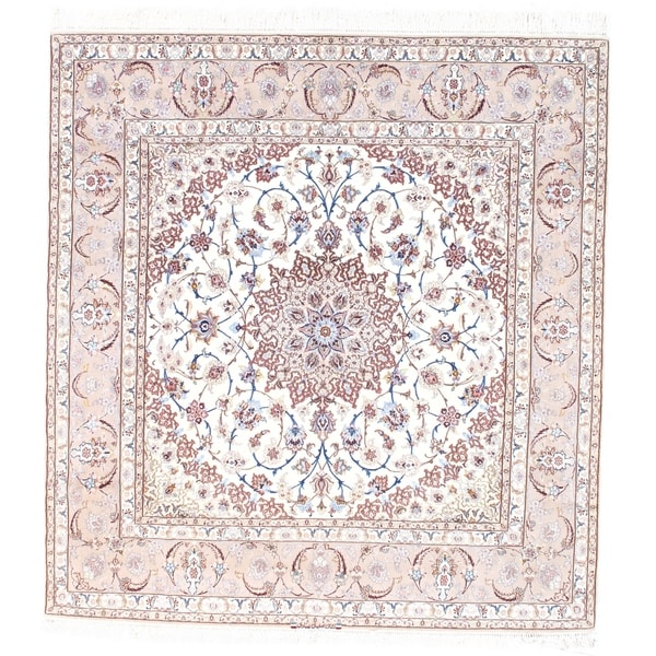 Pasargad NY Persian Isfahan Pink Silk and Korker Wool Handmade Area Rug