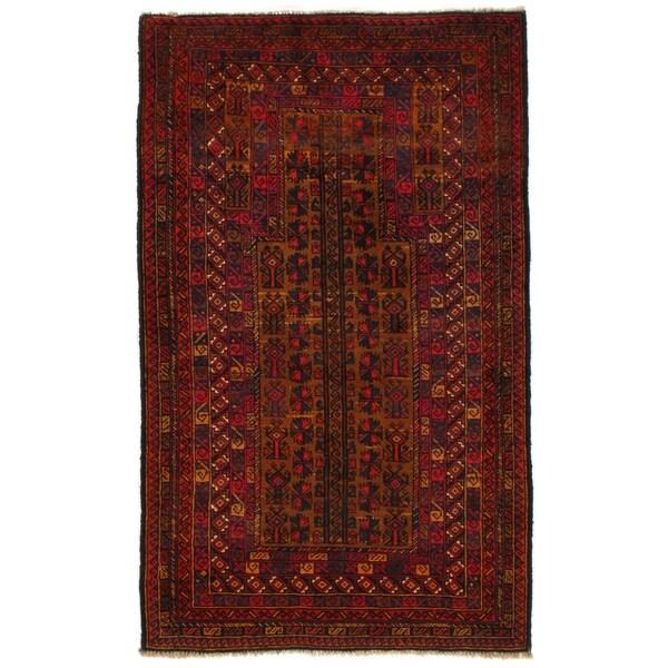 Pasargad Ny Afghan Baluch Handmade Red Wool Rug
