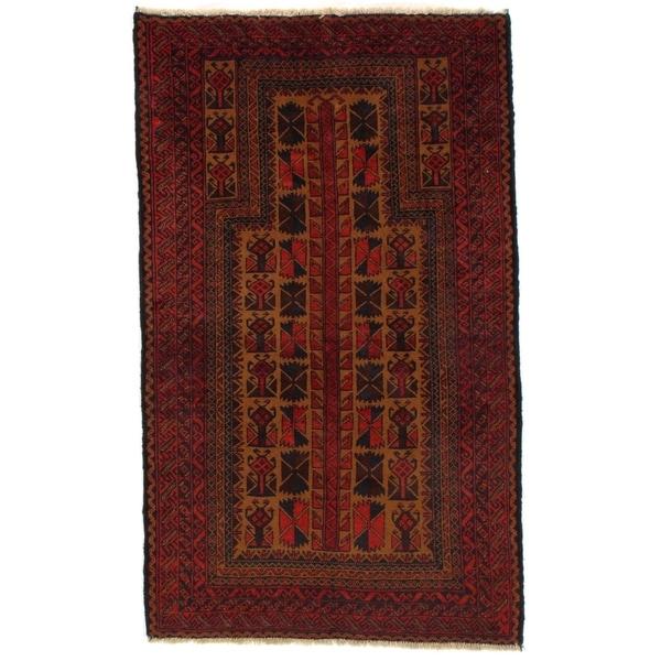 "Pasargad DC Afghan Baluch Wool Rug - 4'8"" X 6'8"""