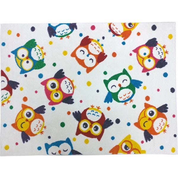 KC CUBS Boy and Girl Bedroom Modern Decor Cheerful Parliament of Multicolor Owls For Kids and Children