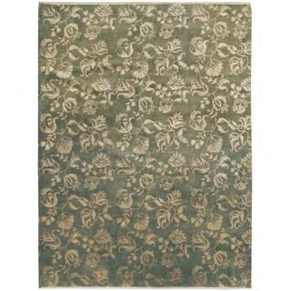 Wool and Silk Modern Rug - 9' x 11'9''