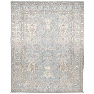 Wool and Silk Tabriz Rug (10' x 14') - 10' x 14'