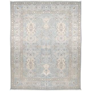 Wool and Silk Tabriz Rug (10' x 14') - 8' x 8'