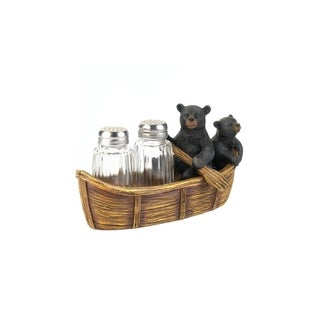 Black Bears in a Canoe Salt & Pepper Shaker