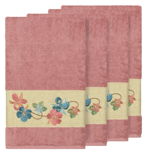 Rose Embroidered Towels: Shop Authentic Hotel And Spa Turkish Cotton Floral Vine