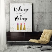 Wake Up & Makeup - Premium Gallery Wrapped Canvas