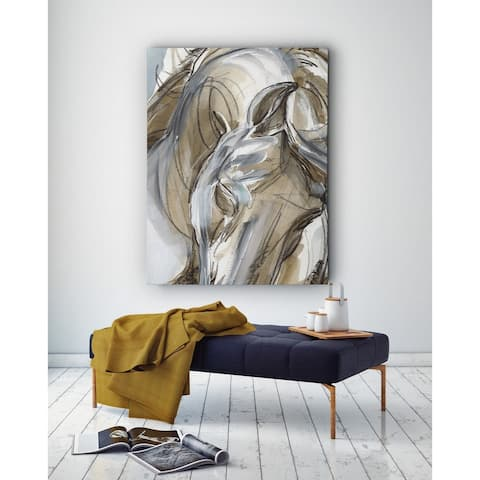 Horse Abstraction I - Premium Gallery Wrapped Canvas