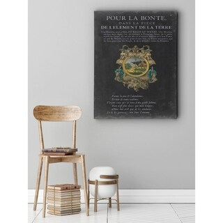 Vintage Bookplate I - Premium Gallery Wrapped Canvas (4 options available)