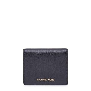 MICHAEL Michael Kors Mercer Flap Admiral Blue Card Holder Wallet