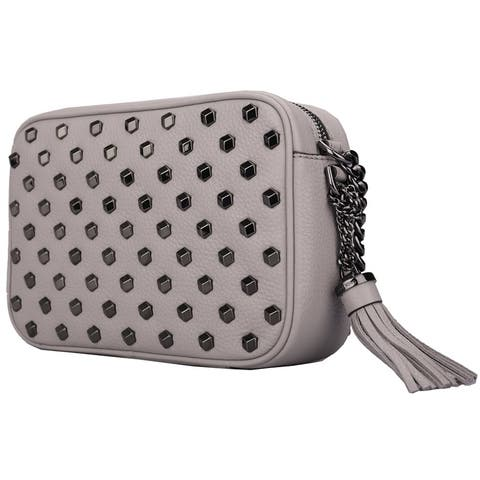 Michael Kors Ginny Studded Medium Leather Camera Bag