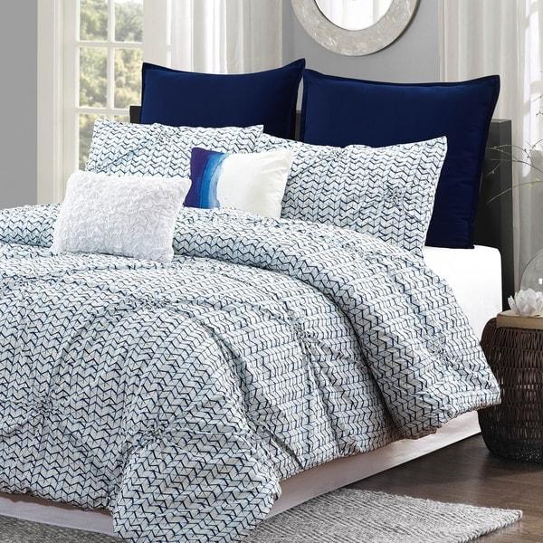 Shop Style Quarters Blue Batik 7pc Comforter Set 100