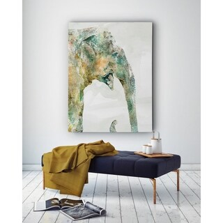African Colors Elephant - Premium Gallery Wrapped Canvas