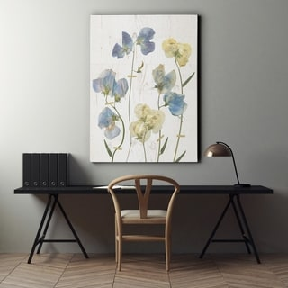 Blue Sweet Peas II - Premium Gallery Wrapped Canvas