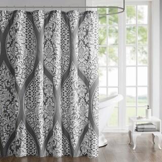 510 Design Rozelle Grey Printed Shower Curtain