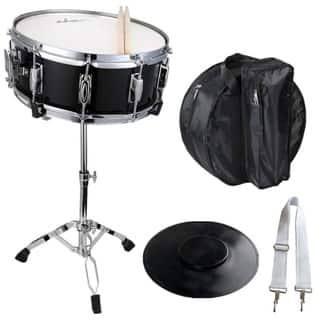 Adm Student Snare Drum Set With Case Sticks Stand And Practice Pad Kit