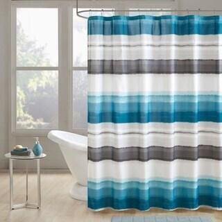 510 Design Ogdon Indigo Printed Shower Curtain