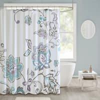 510 Design Gratia Printed Shower Curtain 2-Color Option