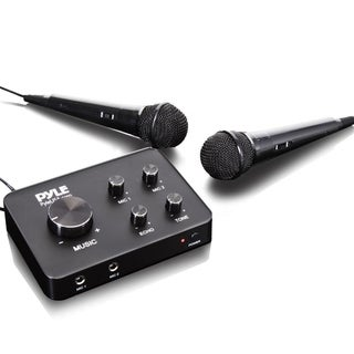 Pyle Home Theater Karaoke Microphone System - Connects to TV, Receiver, Amplifier, Speaker And More