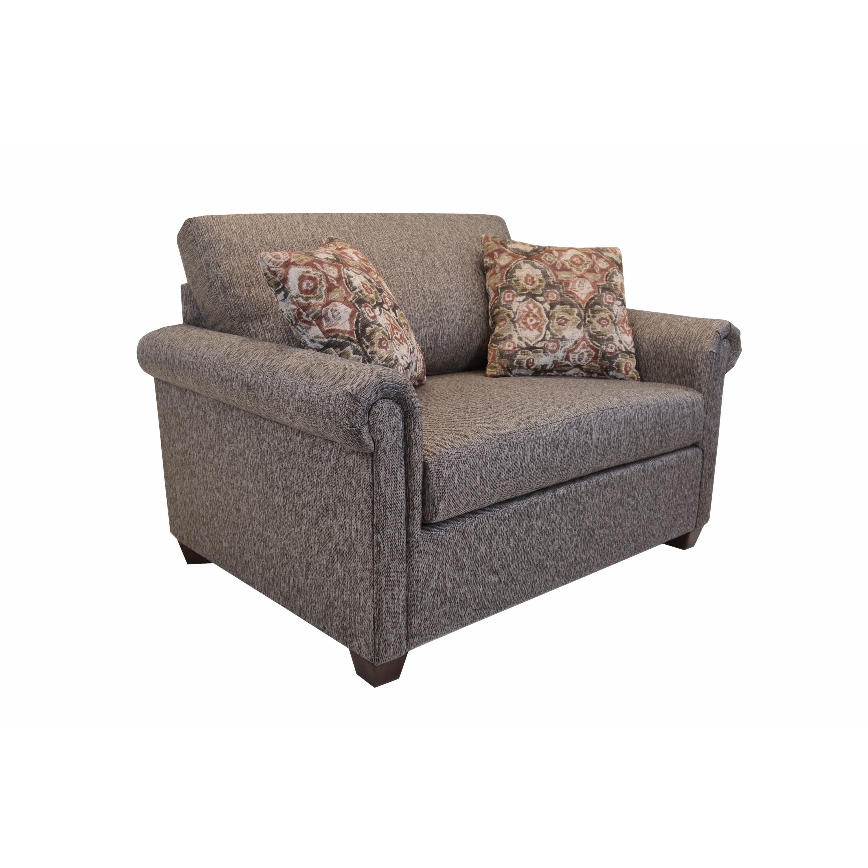 Pauletta Sleeper Chair with Twin Memory Foam Mattress